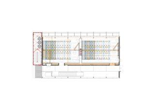 Grundriss 4. OG ZHAW Winterthur, Umbau Bibliothek von Architekten ETH/SIA<br/>