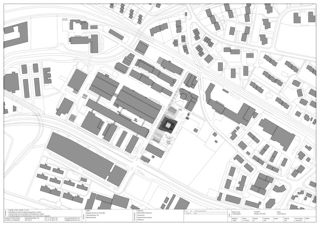 Plan de situation EMPA NEST de Gramazio & Kohler GmbH