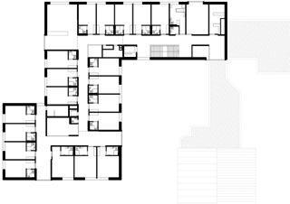 Grundriss 2. OG Altersheim Rosenhügel von blgp architekten ag