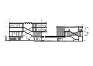 Schnitt École de la Vigne-Rouge von Philippe Calame Architectes Sàrl