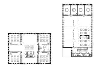 Grundriss OG École de la Vigne-Rouge von Philippe Calame Architectes Sàrl