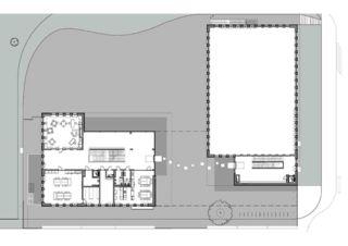 Grundriss EG École de la Vigne-Rouge von Philippe Calame Architectes Sàrl