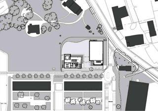 Situationsplan École de la Vigne-Rouge von Philippe Calame Architectes Sàrl