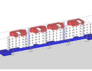 Schema ABZ Wohnsiedlung Sihlfeld: tiefgreifende Sanierung und Aufstockung, Balkonanbauten von Schaffner Architekt