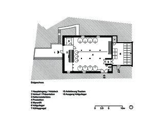 Rez-de-chaussée Umbau Weintrotte de Dost Architektur