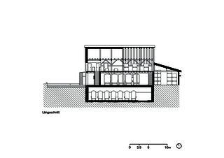 Coupe longitudinale Umbau Weintrotte de Dost Architektur