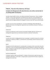 Description du projet Publica, Montreux de Luscher Architectes SA