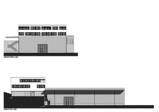 Ansichten Bürogebäude mit Werkhalle von Wyss Architektur + Bauleitung GmbH