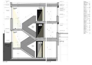 Fassadenschnitt Bürogebäude mit Werkhalle von Wyss Architektur + Bauleitung GmbH
