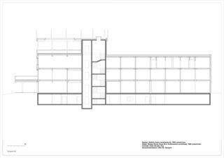 Längsschnitt Nordic House, Biathlon Arena Lenzerheide von Architekt SIA/SWB<br/>