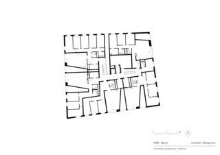 Grundriss 3. Obergeschoss Haus G «Mehr als Wohnen» von pool Architekten