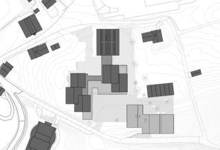 Sitatuationsplan Agrandissement de Moréchon 2 Savièse von rk Studio gmbh