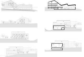 Fassadenansichten und Schnitte Agrandissement de Moréchon 2 Savièse von rk Studio gmbh
