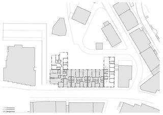 2. Obergeschoss Wohnüberbauung und Seniorenwohnungen Chalavus von Pablo Horváth Architekt SIA/SWB