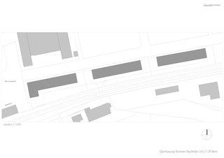 Situationsplan Überbauung Brünnen, Baufelder 16-18 von bauzeit architekten GmbH