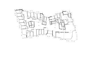 Plan rez-de-chaussée Wohn- und Pflegezentrum Blumenrain de von Ballmoos Partner Architekten AG