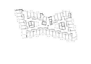 Plan 1er étage Wohn- und Pflegezentrum Blumenrain de von Ballmoos Partner Architekten AG