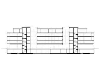 Coupe longitudinale Wohn- und Pflegezentrum Blumenrain de von Ballmoos Partner Architekten AG