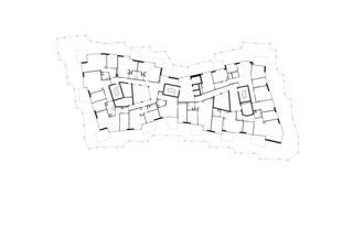 Grundriss Attika Wohn- und Pflegezentrum Blumenrain von von Ballmoos Partner Architekten AG
