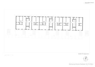Grundriss EG Baufeld 18 Überbauung Brünnen, Baufelder 16-18 von bauzeit architekten GmbH