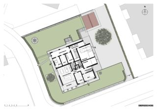 Erdgeschoss mit Umgebung Haus in Willisau de BAUREAG Architekten AG