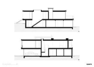 Schnitte Haus in Willisau de BAUREAG Architekten AG