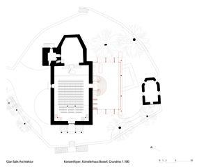 Foyer Künstlerhaus Boswil, Grundriss Foyer, Künstlerhaus Boswil von Gian Salis Architektur GmbH