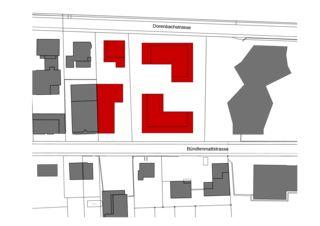Situationsplan Wohnüberbauung Dorenbach von Ferrara Architekten AG