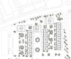 Situation EG Freilager – die Langhäuser von Rolf Mühlethaler