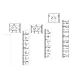 1. OG zusammengesetzt Freilager – die Langhäuser von Rolf Mühlethaler