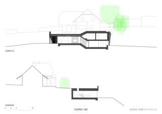Schnitte Villa familiale von Andrea Pelati Architecte