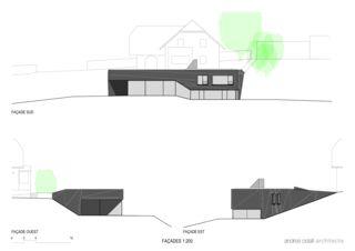 Ansichten Villa familiale von Andrea Pelati Architecte