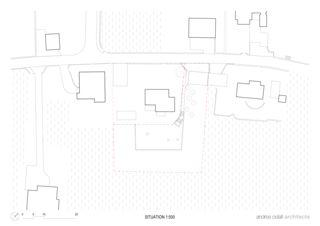 Situationsplan Villa familiale von Andrea Pelati Architecte