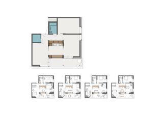Wohnmodul Nutzungsvarianten Hofächer Dietikon  von Haerle Hubacher Architekten BSA