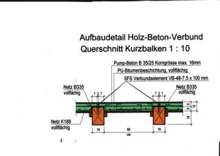 Querschnitt Kurzbalken Gebäudehüllensanierung / Restaurierung Waldhaus Flims Alpine Grand Hotel & Spa  von Spreiter+Partner AG