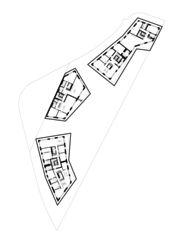 Grundriss Attikageschoss Wohnüberbauung Schützengasse 22 von Ferrara Architekten AG