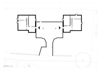 Grundriss Untergeschoss zwei häuser für zwei brüder von Architekt ETH/SIA<br/>