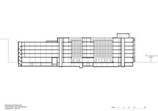 Längsschnitt Geschäftshaus am Schiffbauplatz von Baukontor Architekten AG