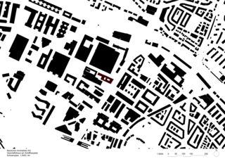 Schwarzplan Geschäftshaus am Schiffbauplatz von Baukontor Architekten AG