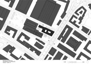 Situation Geschäftshaus am Schiffbauplatz von Baukontor Architekten AG