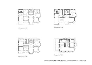 Grundrisse Stadtvilla in Luzern von Architekturbüro Iwan Bühler GmbH