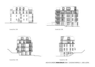 Fassaden Stadtvilla in Luzern von Architekturbüro Iwan Bühler GmbH