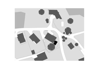 Situationsplan Atelier casa monofamiliare von Buletti Fumagalli Del Fedele Bernardi Architetti Sagl