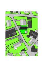 Plan 1: 500 / Planimetria 1:500 Casa sospesa a Monte Carasso de Studio d'architettura Ernesto Bolliger