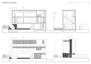 Coupes et façades / Sezioni e Facciate 1 Casa sospesa a Monte Carasso de Studio d'architettura Ernesto Bolliger