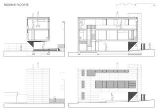 Coupes et façades / Sezioni e Facciate 2 Casa sospesa a Monte Carasso de Studio d'architettura Ernesto Bolliger