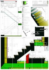 Détails escalier / Dettagli scale Casa sospesa a Monte Carasso de Studio d'architettura Ernesto Bolliger