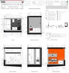 Salle de bain / Piano Bagno Casa sospesa a Monte Carasso de Studio d'architettura Ernesto Bolliger