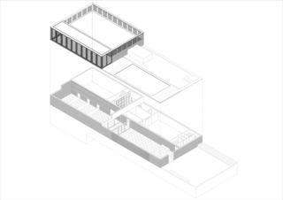 Axonometrie Ersatzneubau Krematorium Friedhof am Hörnli von Architekturbüro Bernhard Maurer GmbH + FGA Architectes