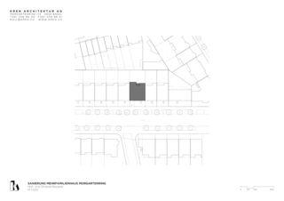 Situation Sanierung Mehrfamilienhaus Morgartenring von KREN Architektur AG
